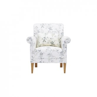 Amelia Accent Chair in Natural Cornflower