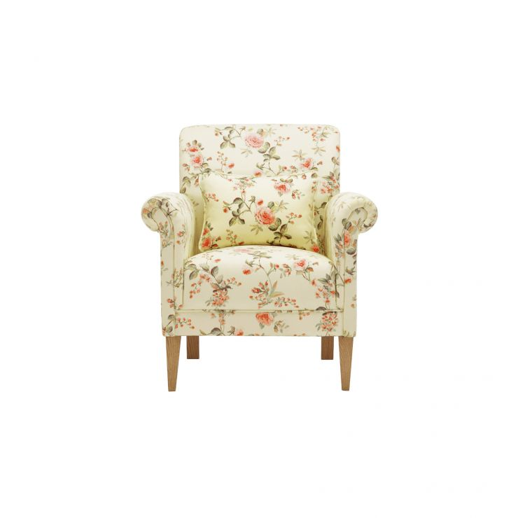 Amelia Accent Chair in Rippon Rose - Image 1