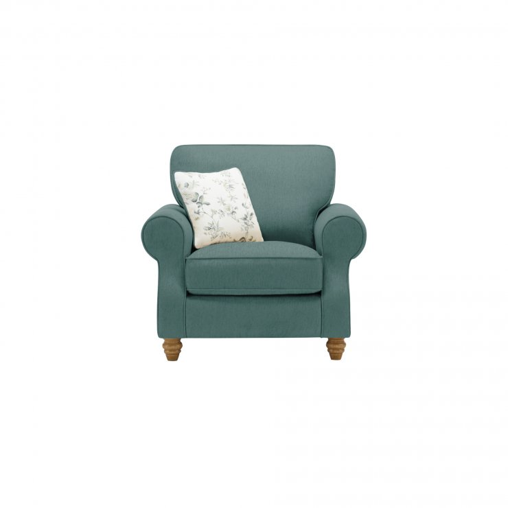 Amelia Armchair in Polla Cornflower with Rippon Natural Scatters - Image 1