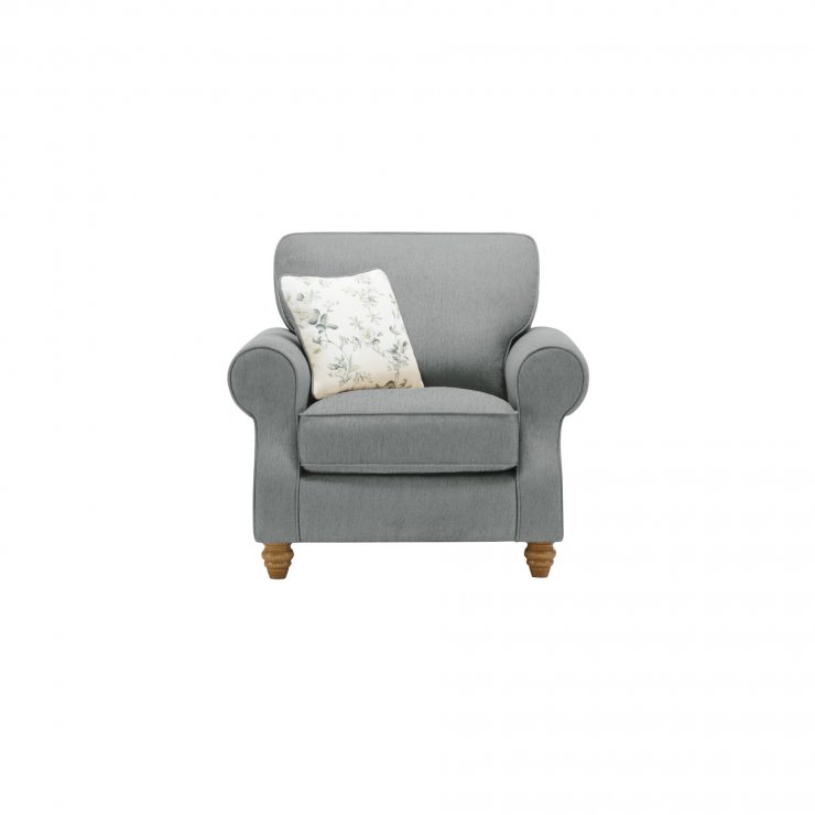Amelia Armchair in Polla Grey with Rippon Natural Scatters - Image 1