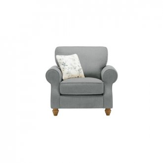 Amelia Armchair in Polla Grey with Rippon Natural Scatters