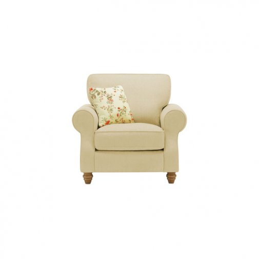 Amelia Armchair in Polla Meadow with Rippon Rose Scatters