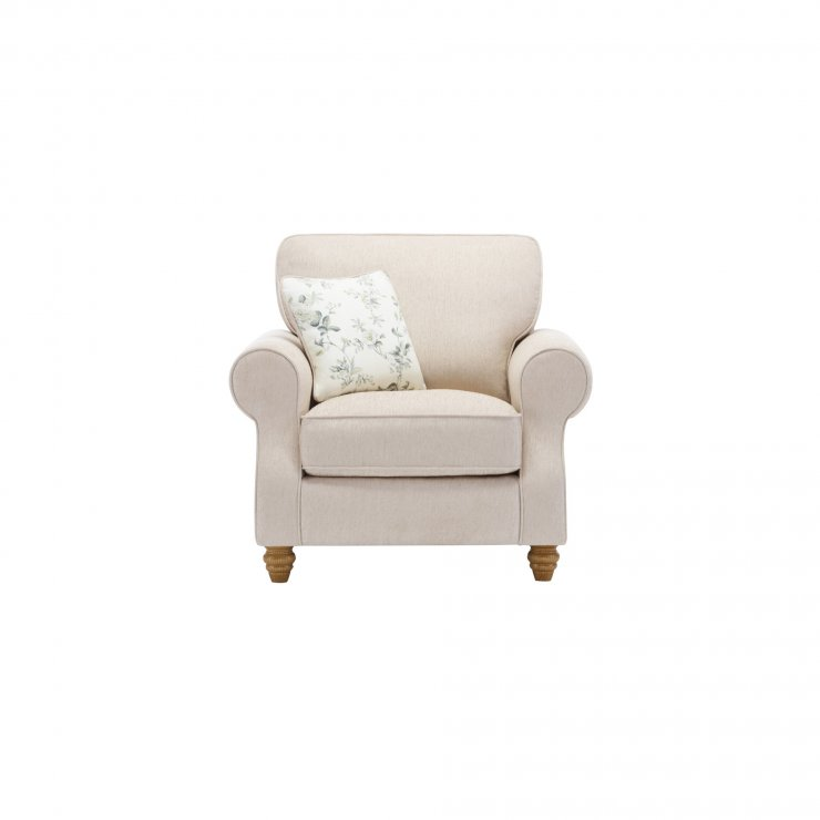 Amelia Armchair in Polla Oatmeal with Rippon Natural Scatters - Image 1