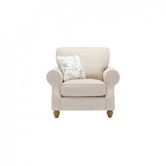 Amelia Armchair in Polla Oatmeal with Rippon Natural Scatters