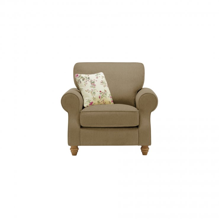 Amelia Armchair in Polla Silver with Rippon Plum Scatters
