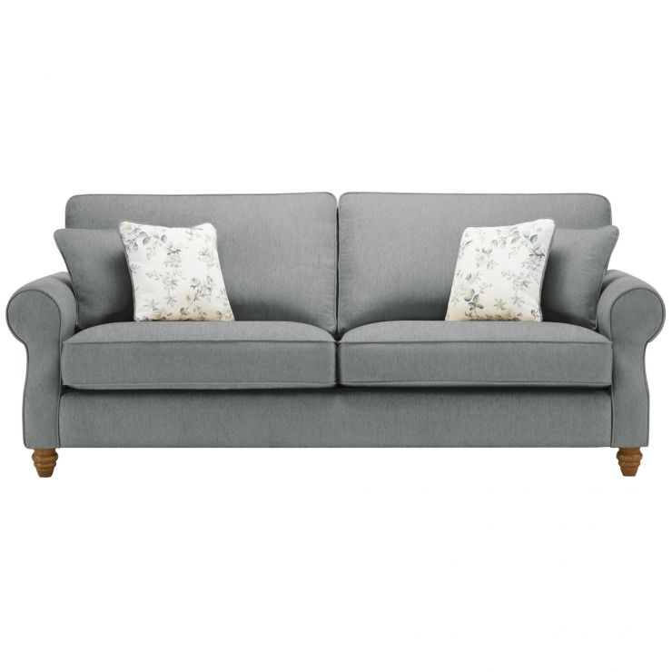Amelia 4 Seater Sofa in Polla Grey with Rippon Natural Scatters - Image 1