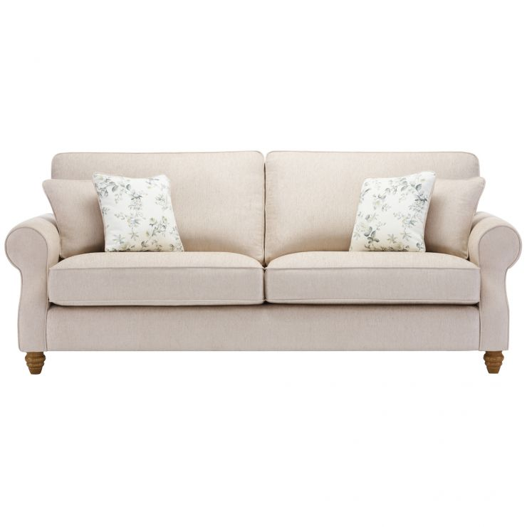 Amelia 4 Seater Sofa in Polla Oatmeal with Rippon Natural Scatters - Image 1