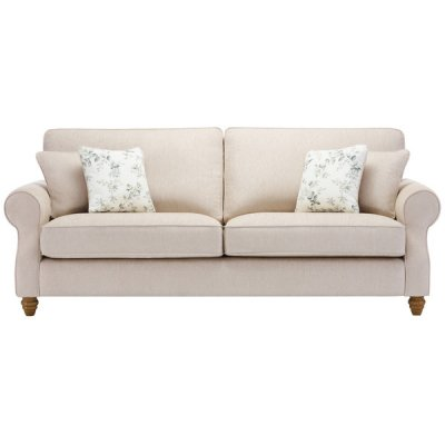 Amelia 4 Seater Sofa in Polla Oatmeal with Rippon Natural Scatters