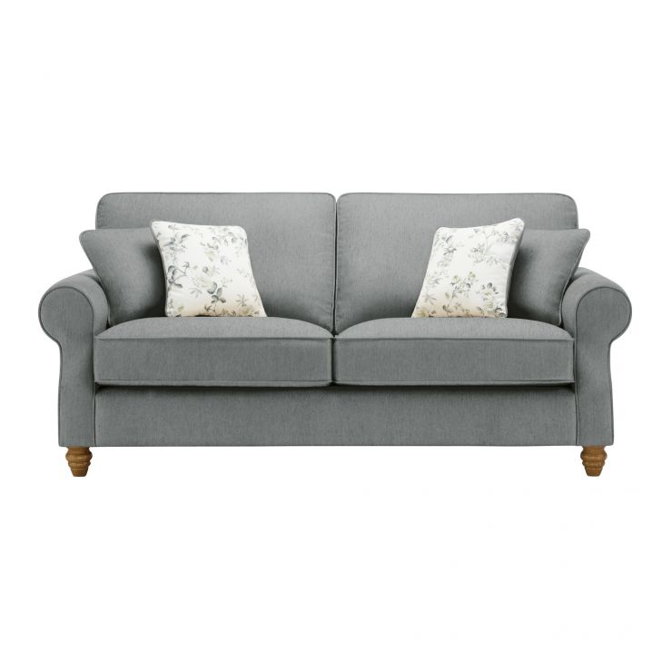 Amelia 3 Seater Sofa in Polla Grey with Rippon Natural Scatters - Image 1