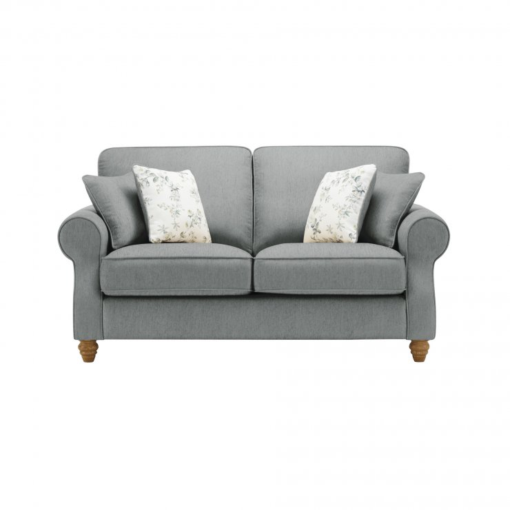 Amelia 2 Seater Sofa in Polla Grey with Rippon Natural Scatters - Image 1