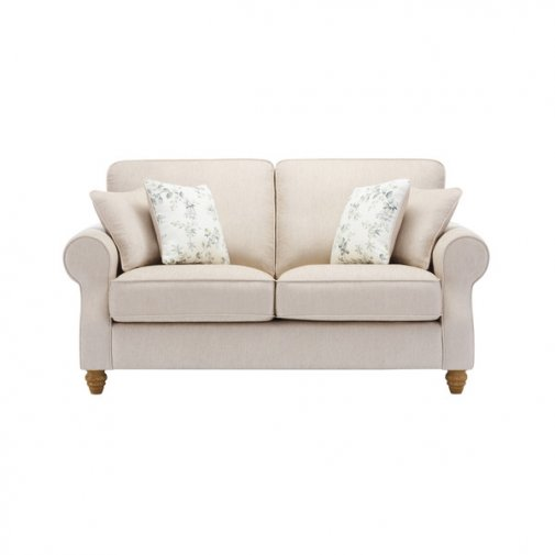 Amelia 2 Seater Sofa in Polla Oatmeal with Rippon Natural Scatters