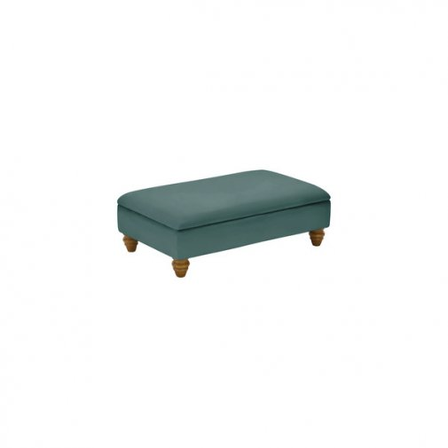 Amelia Storage Footstool in Polla Cornflower
