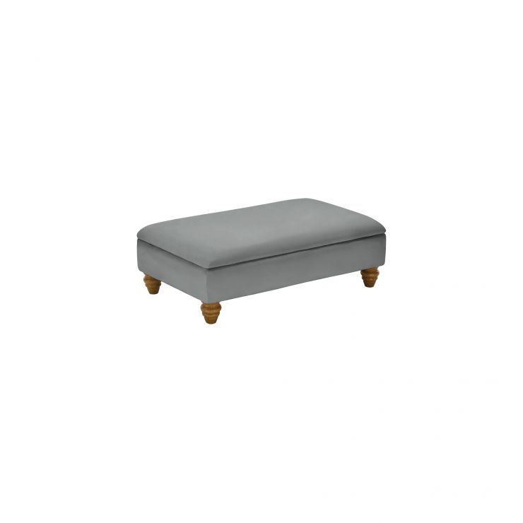 Amelia Storage Footstool in Polla Grey - Image 2