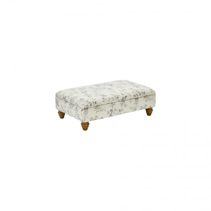 Amelia Storage Footstool in Natural Oatmeal