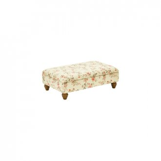 Amelia Storage Footstool in Rippon Rose