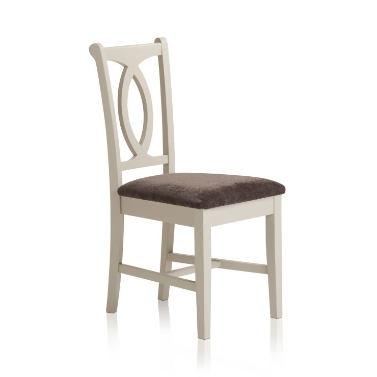 Arlette Painted Hardwood Plain Charcoal Fabric Dining Chair - Image 4