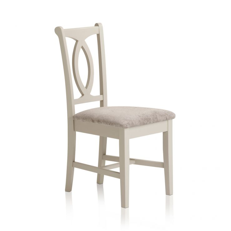 Arlette Painted Hardwood Plain Truffle Fabric Dining Chair