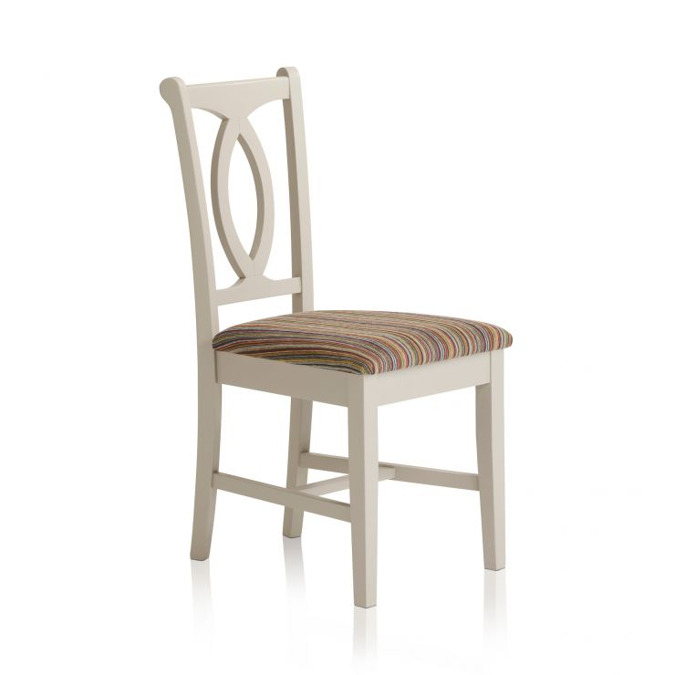 Arlette Painted Hardwood Striped Multi - Coloured Fabric Dining Chair - Image 1
