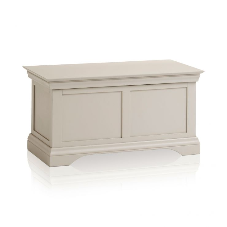 Arlette Grey Blanket Box in Painted Hardwood - Image 1