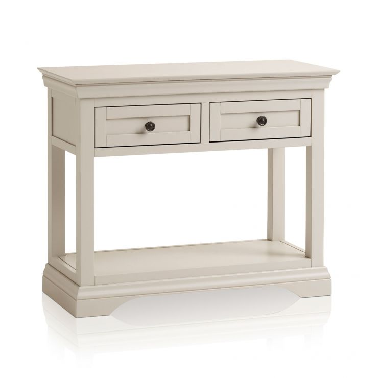 Arlette Grey Console Table in Painted Hardwood
