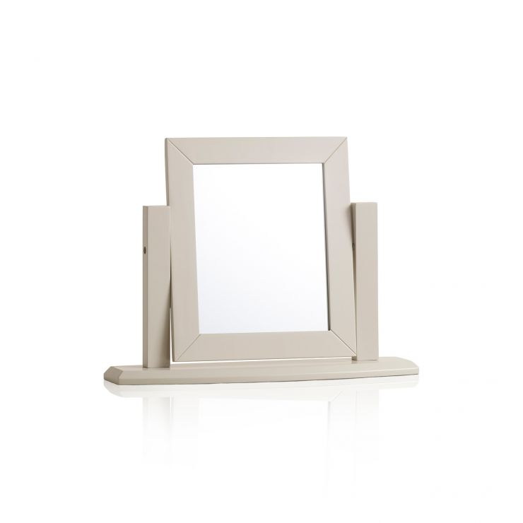 Arlette Grey Dressing Table Mirror in Painted Hardwood