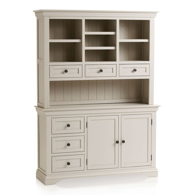 Arlette Large Grey Dresser in Painted Hardwood - Image 7