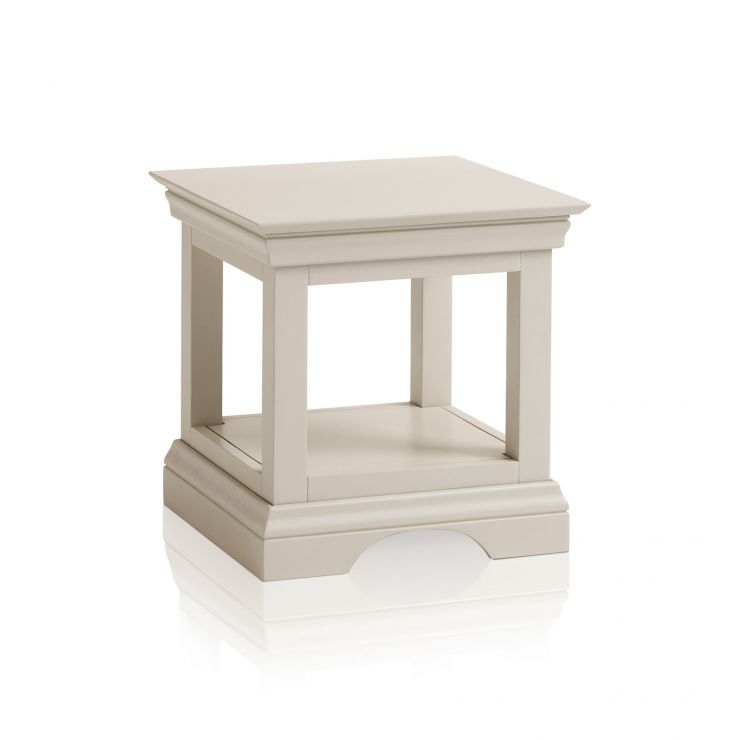 Arlette Grey Side Table in Painted Hardwood  - Image 1