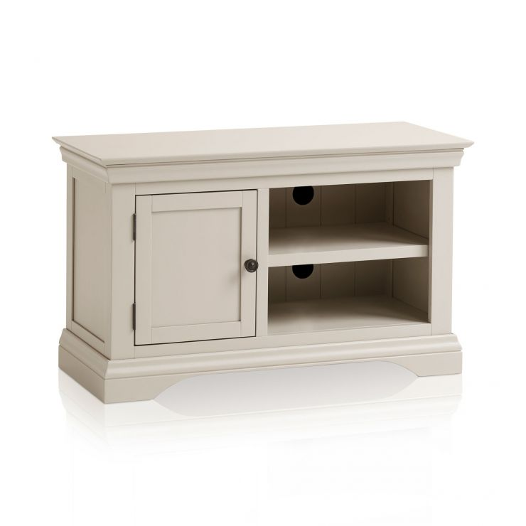 Arlette Small Grey TV Unit in Painted Hardwood