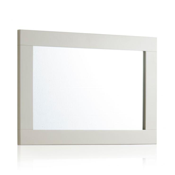 Arlette Grey Wall Mirror in Painted Hardwood