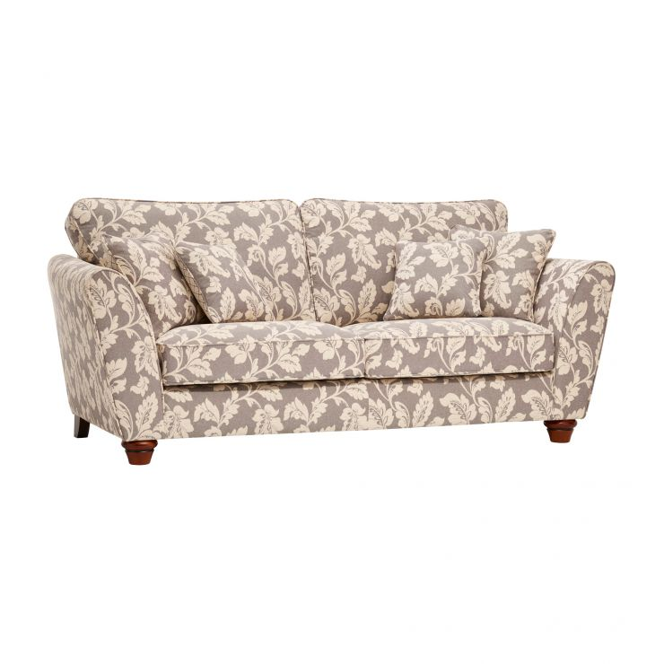 Ashdown 3 Seater Sofa in Hampton Natural with Rustic Feet - Image 1