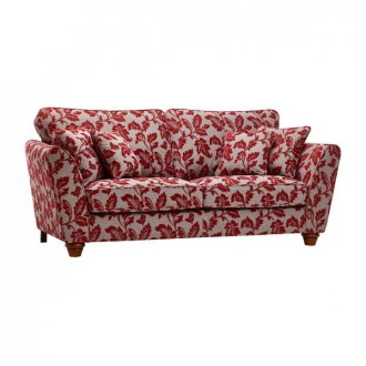 Ashdown 3 Seater Sofa in Hampton Ruby
