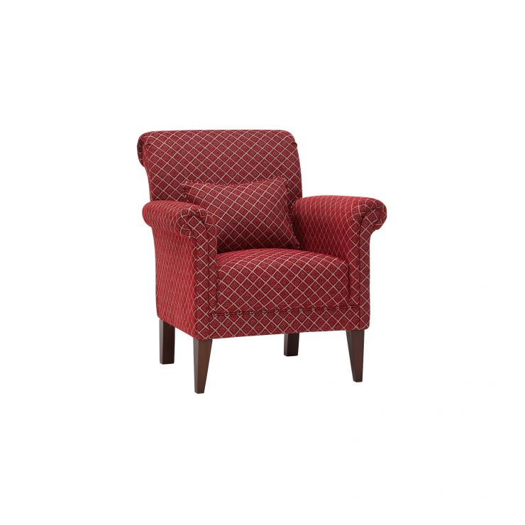 Ashdown Accent Chair in Hampton Ruby - Image 1