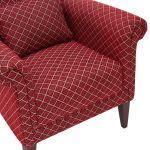 Ashdown Accent Chair in Hampton Ruby - Thumbnail 7