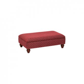 Ashdown Storage Footstool in Hampton Ruby