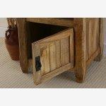 Baku Light Solid Mango 1 Door Bedside Cabinet - Thumbnail 5
