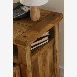 Baku Light Solid Mango 1 Door Bedside Cabinet - Thumbnail 4