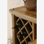 Baku Light Natural Solid Mango Wine Cabinet - Thumbnail 4