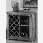 Baku Light Natural Solid Mango Wine Cabinet - Thumbnail 5