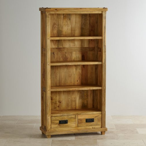Baku Light Natural Solid Mango Tall Bookcase