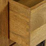 Baku Light Natural Solid Mango 3 Drawer Bedside Table - Thumbnail 5