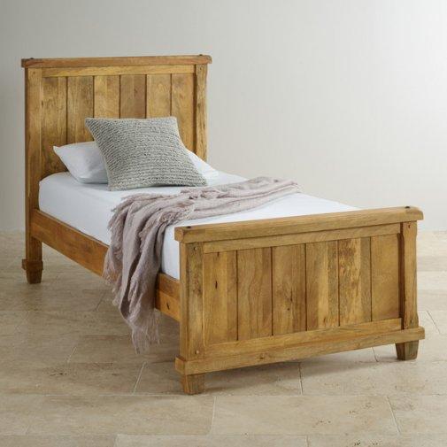 Baku Light Natural Solid Mango 3ft Single Bed