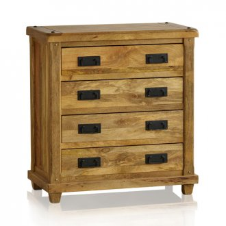 Baku Light Natural Solid Mango 4 Drawer Chest