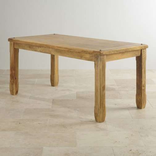 "Baku Light Natural Solid Mango 5ft 6"" x 2ft 9"" Dining Table"