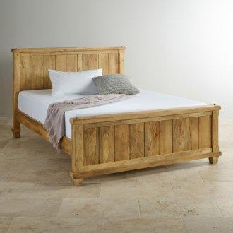 Baku Light Natural Solid Mango 5ft King-Size Bed
