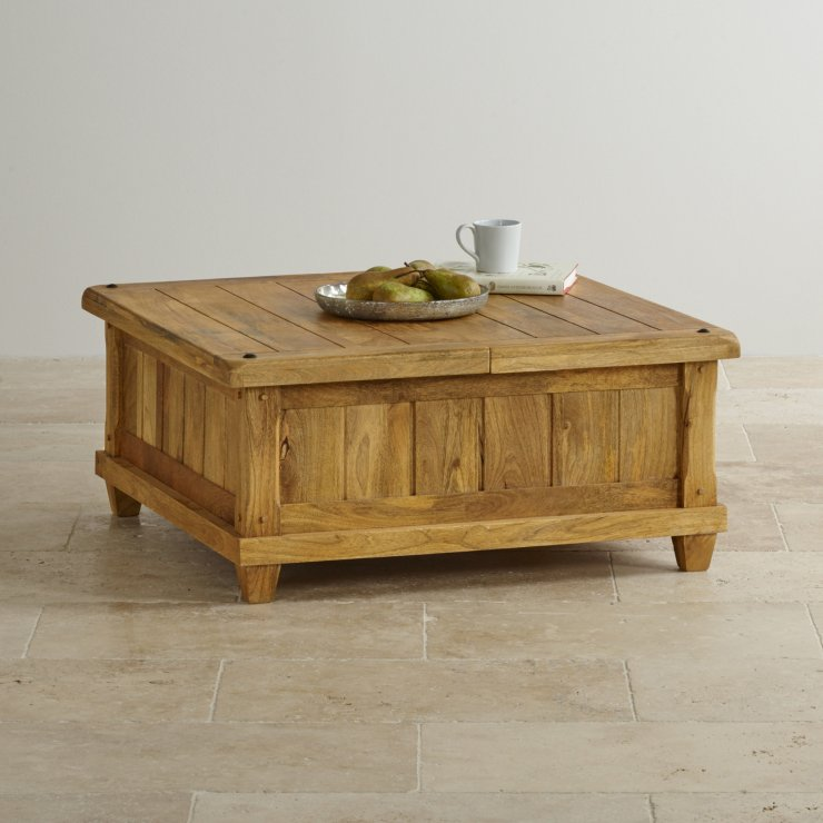 Baku Light Natural Solid Mango Blanket Box