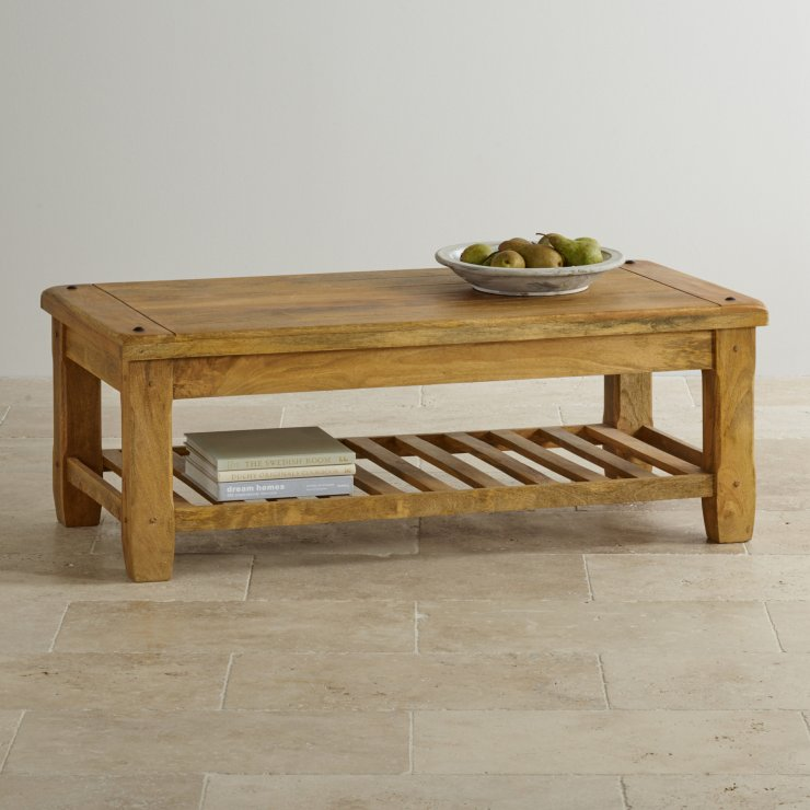Baku Light Natural Solid Mango Coffee Table