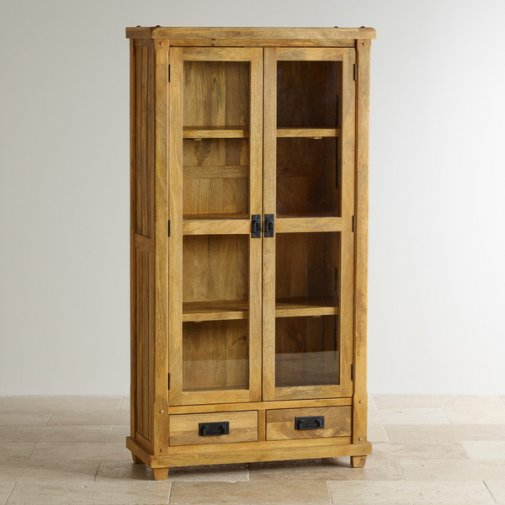 Baku Light Natural Solid Mango Display Cabinet