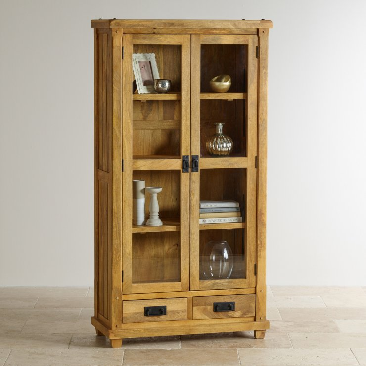 Baku Light Natural Solid Mango Display Cabinet