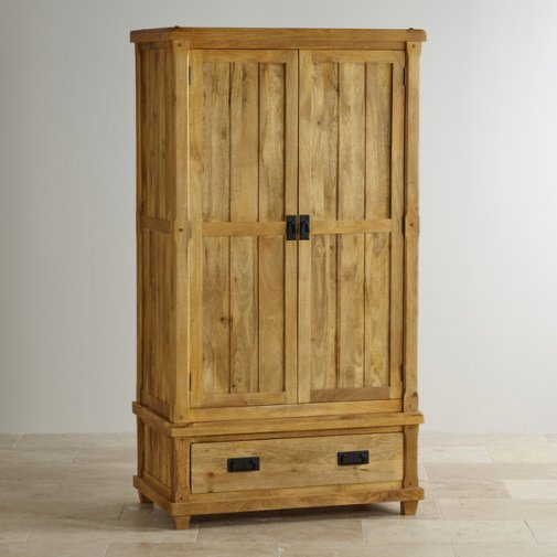 Baku Light Natural Solid Mango Double Wardrobe