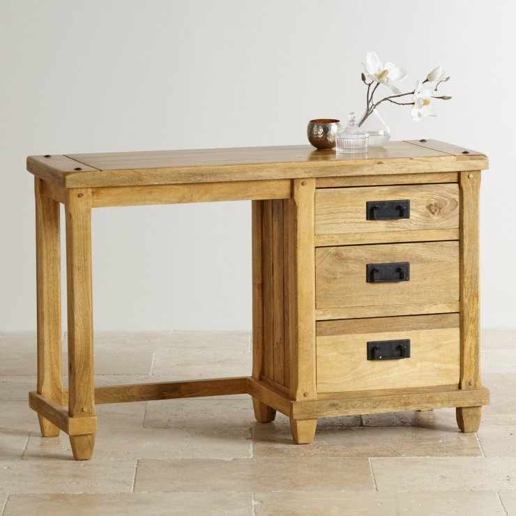 Baku Light Natural Solid Mango Dressing Table